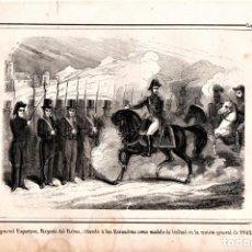 Arte: MOSSOS D'ESQUADRA,POLICIA CATALUÑA,GRABADO SIGLO XIX,AÑO 1859,REVISTA ARMADA DEL GENERAL ESPARTERO. Lote 141856366
