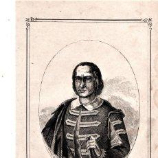 Arte: MOSSOS D'ESQUADRA,POLICIA CATALUÑA,GRABADO SIGLO XIX,AÑO 1859,D.PEDRO ANTONIO VECIANA,1º COMANDANTE. Lote 141856606