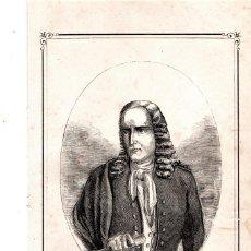 Arte: MOSSOS D'ESQUADRA,POLICIA CATALUÑA,GRABADO SIGLO XIX,AÑO 1859,D.PEDRO MARTIR VECIANA,2º COMANDANTE . Lote 141856718