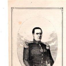 Arte: MOSSOS D'ESQUADRA,POLICIA CATALUÑA,GRABADO SIGLO XIX,AÑO 1859,D.JOSE VIVÉ, 6º COMANDANTE ESCUADRAS. Lote 141856842
