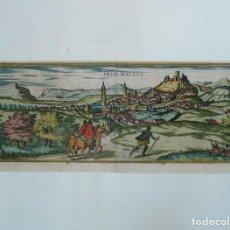 Arte: VÉLEZ MÁLAGA. GRABADO ORIGINAL DE CIVITATES ORBIS TERRARUM, 1572-1617. Lote 141977626