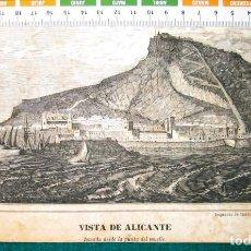 Arte: VISTA DE ALICANTE. GRABADO 1846. Lote 142081590