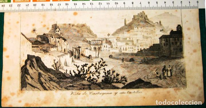 VISTA DE CARTAGENA. GRABADO 1846 (Arte - Grabados - Contemporáneos siglo XX)
