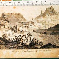 Arte: VISTA DE CARTAGENA. GRABADO 1846. Lote 142081758
