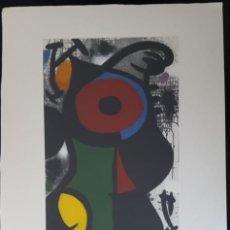 Arte: JOAN MIRÓ GRABADO ORIGINAL FIRMADO A LAPIZ,E.A.,PERSONAJE FASCINANTE, 29.5X20.5 CMS. Lote 142155250
