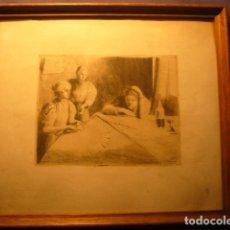 Arte: OSWALD HEIDBRICK (1860-1914). GRABADO DEL SIGLO XIX. . Lote 142692394