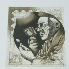 Arte: FILATELIA LA PASION GRABADO AGUAFUERTE DE RAMIRO DE UNDABEYTIA NUMERADO Y FIRMADO VER FOTOS AÑO 1993. Lote 142710970