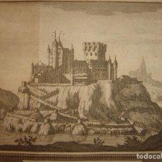 Arte: GRABADO VISTA ALCAZAR SEGOVIA, CASTILLA LA VIEJA, ORIGINAL,1715, VAN DER AA,ESPLÉNDIDO. Lote 142754982