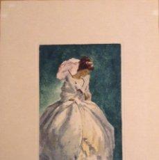 Arte: LLUÍS MUNTANÉ MUNS (MATARÓ,1899-BARCELONA, 1987) GRABADO ORIGINAL FIRMADO SELLO SALA GASPAR AL DORSO. Lote 142900178
