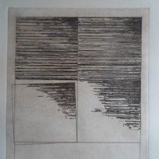 Arte: FRANCISCO MANTECÓN (VIGO 1948-PONTEVEDRA 2001) GRABADO 1995 DE 25X32 PAPEL 38X56CMS FIRMADO LÁPIZ /1. Lote 143009942