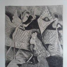 Arte: ANXEL HUETE (OURENSE, 1944) GRABADO 1984 DE 25X32 PAPEL 38X56CMS FIRMADO LÁPIZ 56/100. Lote 143106842