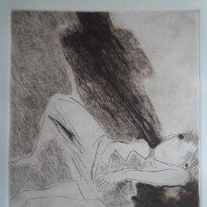 Arte: ANTÓN GOYANES (MONFORTE LUGO 1935) GRABADO 1984 DE 25X34 PAPEL 38X57CMS FIRMADO LÁPIZ Y 56/100. Lote 143107266