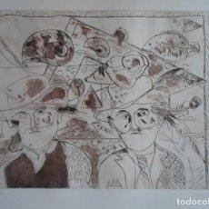 Arte: MIGUEL MOSQUERA (OURENSE-1953) GRABADO 1984 DE 25X32 PAPEL 38X56CMS FIRMADO LÁPIZ Y NUM 56/100. Lote 143208050