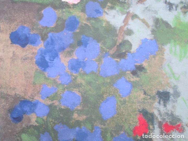 Arte: Carme Aguadé, grabado, flores. 50x65,5cm - Foto 4 - 143252302