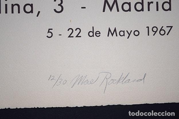 Arte: Cartel Mae Rockland - Galería Seiquer. Firmado a lápiz y numerado 12/30 - 1967 - Foto 2 - 143335714