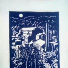 Arte: LINOGRABADO SOBRE PAPEL FIRMADO A LAPIZ, ANTONI VILA ARRUFAT (SABADELL 1894 - BARCELONA 1989). Lote 199660415