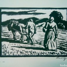 Arte: LINOGRABADO SOBRE PAPEL FIRMADO A LAPIZ VILA PUIG.. Lote 143351362