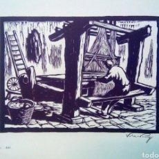 Arte: LINOGRABADO SOBRE PAPEL FIRMADO A LAPIZ VILA PUIG.. Lote 143351396