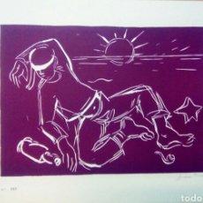 Arte: LINOGRABADO SOBRE PAPEL FIRMADO A LAPIZ FIDEL TRIAS.. Lote 143351748