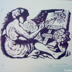 Arte: LINÓLEO FIRMADO A LÁPIZ, JOAN MAURI ESPADALER. PINTOR NACIDO EN SABADELL EN 1913.. Lote 143351788