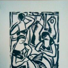 Arte: LINÓLEO FIRMADO A LÁPIZ, DAVID GRAELLS MONTULL. PINTOR Y DIBUJANTE NACIDO EN SABADELL EN 1910.. Lote 143351804