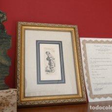 Arte: AUTÉNTICO GRABADO DE REMBRANDT, FIRMADO CON CERTIFICADO DE AUTENTICIDAD, ENMARCADO- LIQUIDACIÓN !!!!. Lote 145413433
