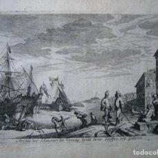 Arte: BONITO GRABADO DE MELCHIOR KÜSEL (1626-1683) SOBRE DIBUJO DE JOHANN WILHELM BAUER (1607-1640). Lote 143384254