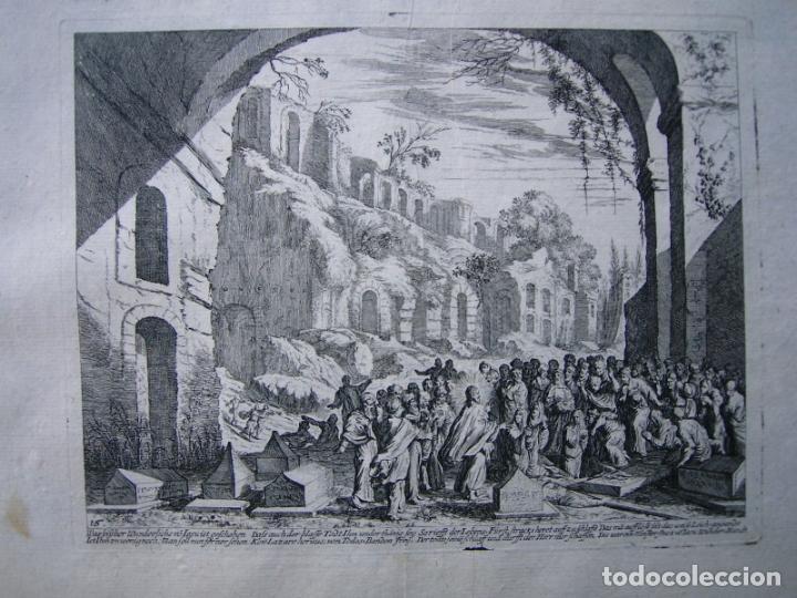 BONITO GRABADO DE MELCHIOR KÜSEL (1626-1683) SOBRE DIBUJO DE JOHANN WILHELM BAUER (1607-1640) (Arte - Grabados - Antiguos hasta el siglo XVIII)