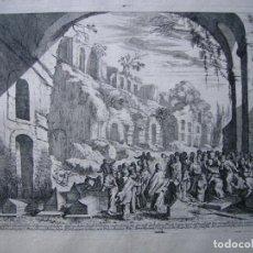 Arte: BONITO GRABADO DE MELCHIOR KÜSEL (1626-1683) SOBRE DIBUJO DE JOHANN WILHELM BAUER (1607-1640). Lote 143384642