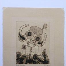 Arte: GONZALO SEBASTIÁN DE ERICE GRABADO ORIGINAL DE 1972 FIRMADO Y FECHADO. Lote 56669301