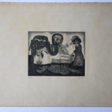 Arte: AGUAFUERTE DE FRANCISCO PEINADO AÑO 1974 , MÁLAGA. Lote 83108572