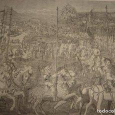 Arte: GRABADO SALIDA BARCELONA DE LA EXPEDICIÓN DE CARLOS V A TUNEZ. ORIGINAL, 1879, BARCELONA,PUJADAS.. Lote 143623058