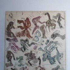 Arte: BONIFACIO (SAN SEBASTIÁN 1933-2011) GRABADO COLORES 29X34 PAPEL 45X54CMS FIRMADO LÁPIZ 1976 Y 12/12 . Lote 143765894