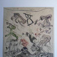 Arte: BONIFACIO (SAN SEBASTIÁN 1933-2011) GRABADO COLORES 29X34 PAPEL 45X54CMS FIRMADO LÁPIZ 1976 Y 12/12 . Lote 143766162