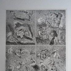 Arte: BONIFACIO (SAN SEBASTIÁN 1933-2011) GRABADO 29X34 PAPEL 45X54CMS FIRMADO LÁPIZ 1976 Y 12/60 SOLAMENT. Lote 143766674
