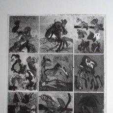 Arte: BONIFACIO (SAN SEBASTIÁN 1933-2011) GRABADO 29X34 PAPEL 45X54CMS FIRMADO LÁPIZ 1976 Y 12/60 SOLAMENT. Lote 143766866