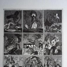 Arte: BONIFACIO (SAN SEBASTIÁN 1933-2011) GRABADO 29X34 PAPEL 45X54CMS FIRMADO LÁPIZ 1976 Y 12/60 SOLAMENT. Lote 143767022