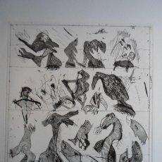 Arte: BONIFACIO (SAN SEBASTIÁN 1933-2011) GRABADO 29X34 PAPEL 45X54CMS FIRMADO LÁPIZ 1976 Y 12/60 SOLAMENT. Lote 143767138