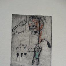 Arte: JEAN-MICHEL BASQUIAT, GRABADO FIRMADO (INTERÉS PICASSO, DALI, SAURA, REMBRANDT, ANDY WARHOL,..). Lote 143784228