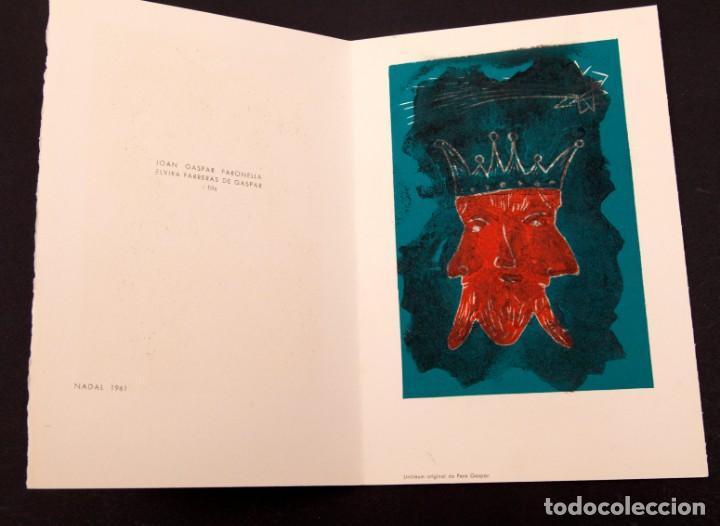 JOAN GASPAR - LINOLEO - 1961 (Arte - Grabados - Contemporáneos siglo XX)