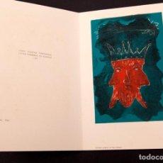 Arte: JOAN GASPAR - LINOLEO - 1961. Lote 144200866