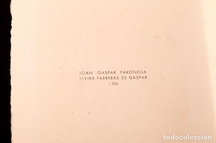 Arte: JOAN GASPAR - LINOLEO - 1961 - Foto 3 - 144200866