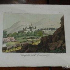 Arte: GRABADO DE EL ESCORIAL, MADIRD, MIGLIAVACCA INC., COLOREADA, MIDE 23 X 16 CMS.. Lote 144205702