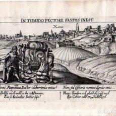 Arte: ESPAÑA. JEREZ DE LA FRONTERA. DE. MEISNER- XERES- 1621 1650.GRABADO EN COBRE.ORIGINAL. 7,3 X 14,6 CM. Lote 144435358