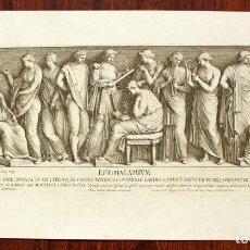 Arte: GRABADO AL AGUAFUERTE ORIGINAL DE PIETRO SANTI BARTOLI (1635-1700) ÉPITHALAMIVM, ALREDEDOR DE 1670. Lote 144456326