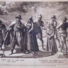 Arte: GRAN GRABADO AL AGUAFUERTE SOBRE OBRA DE JAN HUYGEN VAN LINSCHOTEN (1563-1610) ALREDEDOR DE 1590. Lote 144480490