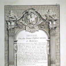 Arte: GRABADO AL AGUAFUERTE ORIGINAL DE PIERRE EDMÉ BABEL (C.1720-1775) BAROZZI DA VIGNOLA FECHADO EN 1766. Lote 144484258