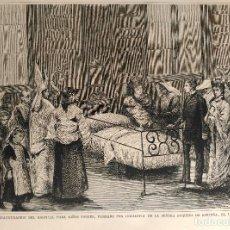Arte: MADRID - INAUGURACION DEL HOSPITAL PARA NIÑOS POBRES, FUNDADO POR LA DUQUESA DE SANTOÑA (1877). Lote 144576570