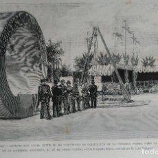 Arte: GRACIA (BARCELONA) COLOCACION PRIMERA PIEDRA RED DE ALCANTARILLAS (1887). Lote 144596362
