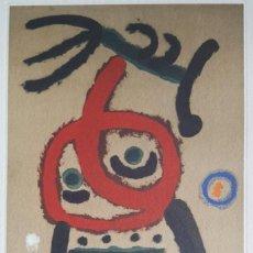 Arte: JOAN MIRÓ GRABADO ORIGINAL FIRMADO A LAPIZ,E.A.,FEMME ET OISEAU,29.5X20 CMS. Lote 146866394